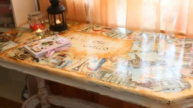 Настоящее произведение искусства из старого письменного стола