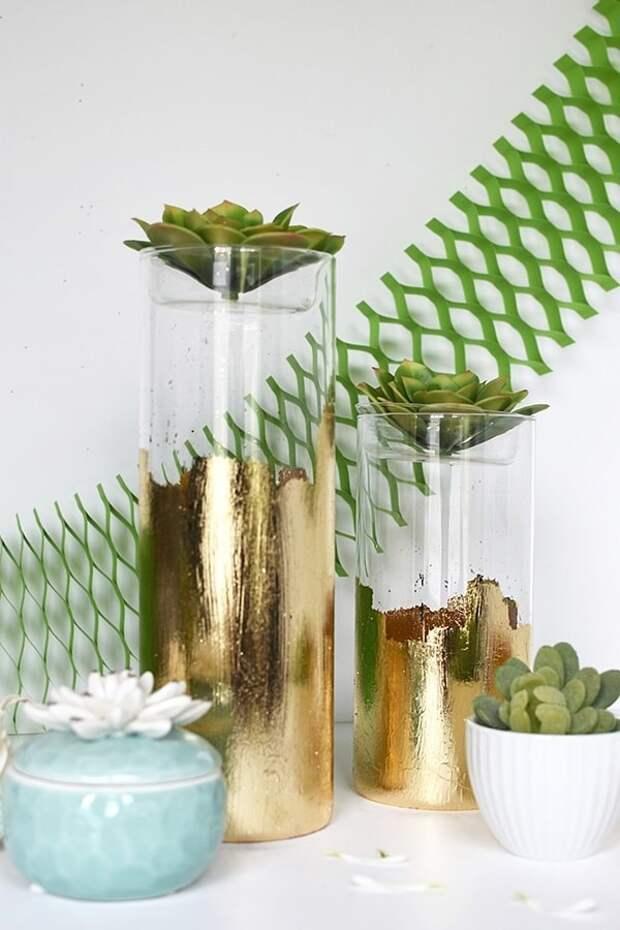 Из самой простой вазы можно сделать шедевр. Отличные идеи для вдохновения
