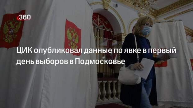 ЦИК опубликовал данные по явке в первый день выборов в Подмосковье