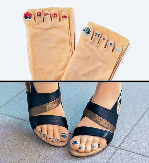 Педикюрные карантинные носочки