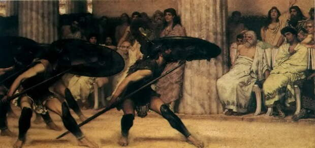 Л. Альма-Тадема. Пиррический танец