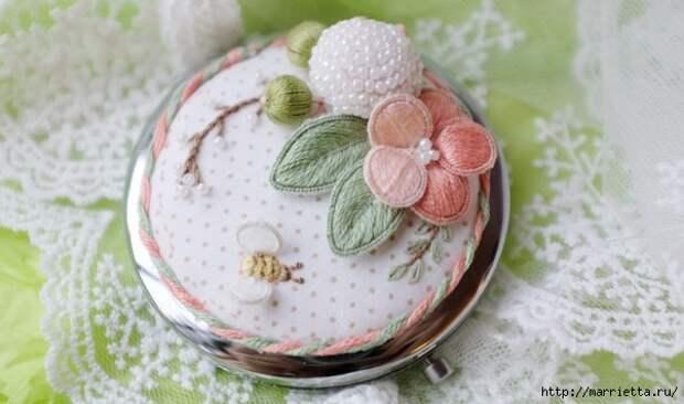 Цветы объемной вышивкой гладью. Красивые работы (37) (602x356, 136Kb)