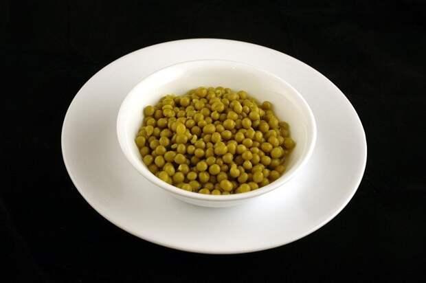 Зеленый горошек (357 грамм = 200 калорий):