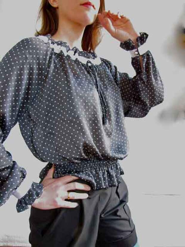 Простая блуза в деревенском стиле. Выкройка и как сшить