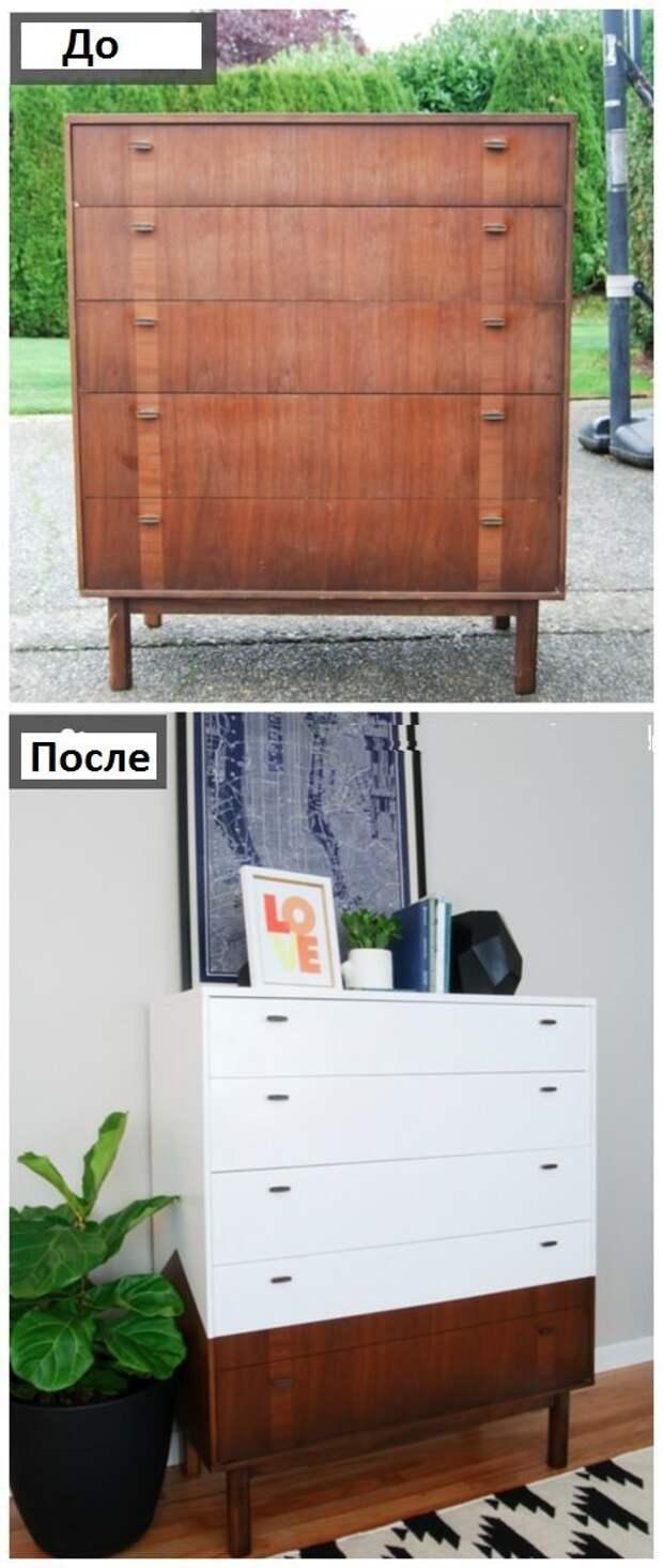 Новые комоды (до и после)