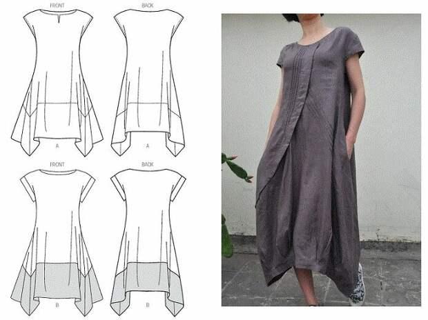Выкройка платья в стиле бохо 4