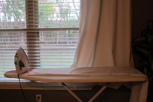 Гениальный способ укоротить шторы, не обрезая их