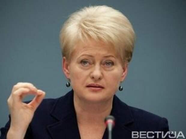 Грибаускайте: Россия стоит на пороге войны с Европой