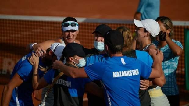 Команда Казахстана по теннису выиграла Аргентину в плей-офф Кубка Билли Джин Кинг