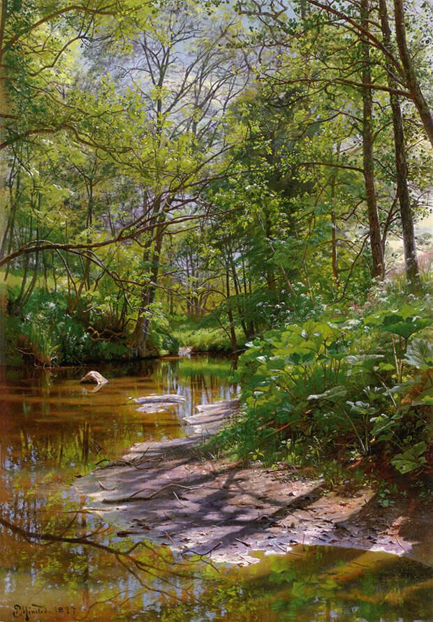 Пейзаж с речушкой, 1897 год