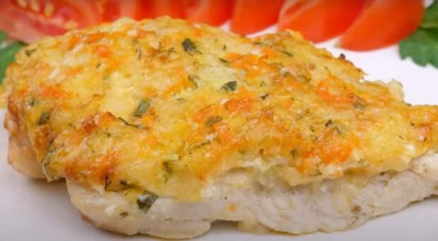 Филе под картофельно-сырной корочкой