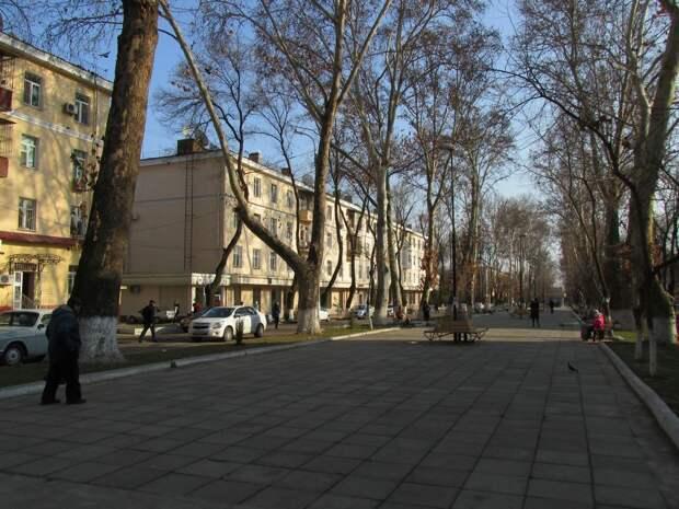 Улица Гагарина в Ташкенте