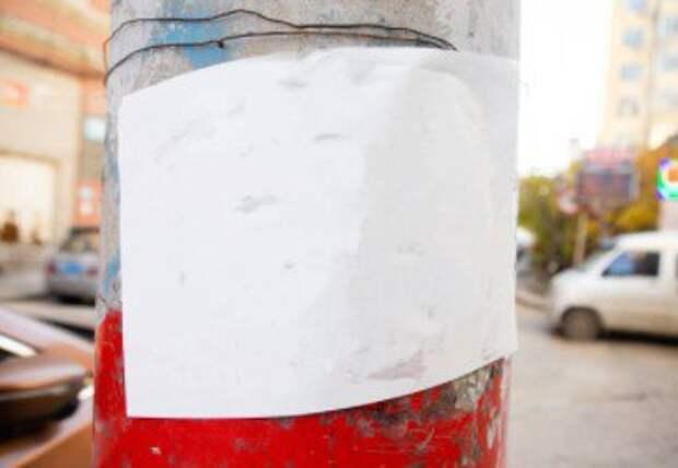 На Дубравной улице фонарный столб стал девственно чист
