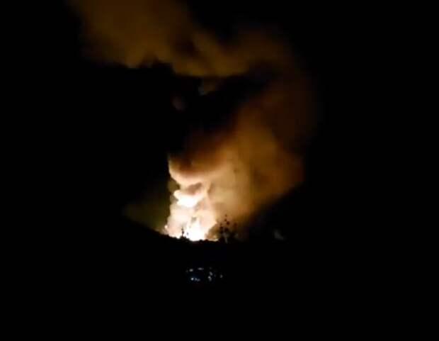 Взрыв склада боеприпасов в Сербии