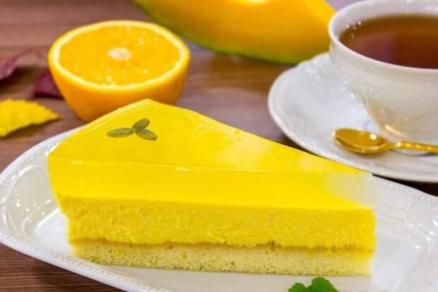Тыквенный чизкейк с апельсиновым желе - яркое солнышко на вашем столе!