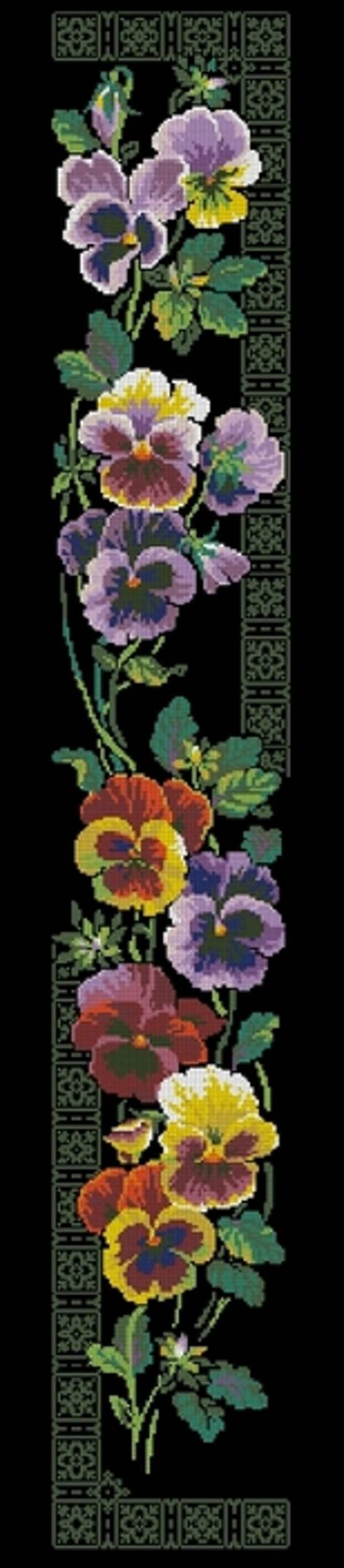 ВЫШИВАЙКА. Цветочные панельки: Анютины глазки