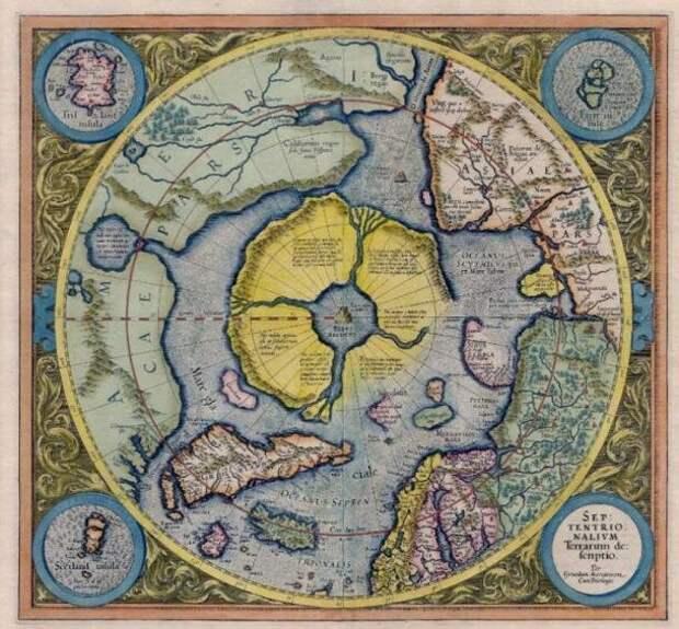 """Гиперборея в Gerardus Mercator Atlas 1595 года - тут искали вход в мир """"внутри Земли"""""""