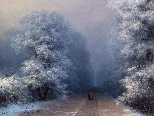Зимние пейзажи Ивана Айвазовского