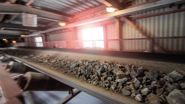 Конвейер для транспортировки руды