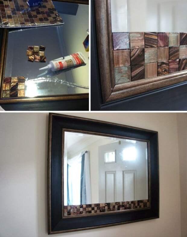 Декор треснутого зеркала diy