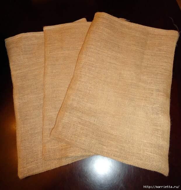 Идеи упаковки новогодних подарков. Шьем мешочки и украшаем их орешками (18) (606x640, 347Kb)