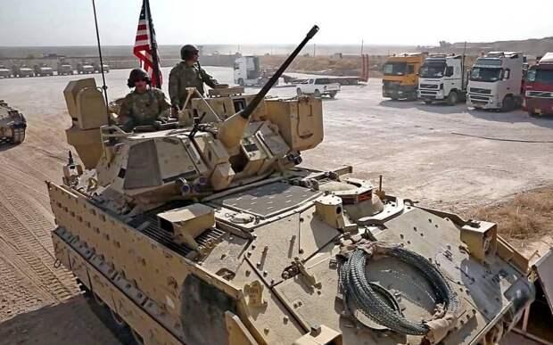 Американцы возглавили колонну с ворованной сирийской нефтью и зерном