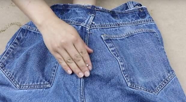 Простейший способ сузить талию на джинсах