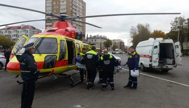 Санавиация доставила в больницу Подольска пострадавшего в ДТП на трассе М‑2
