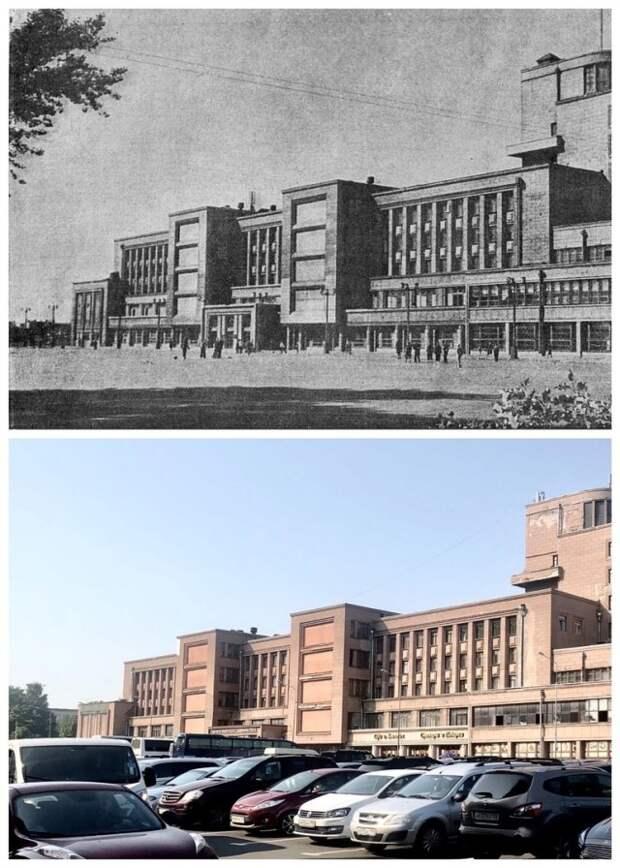 Дом Культуры имени Кирова / Площадь Собчака.1941 и 2019 год.