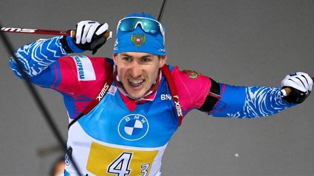 Русский биатлонист снова врубил форсаж и сделал крутого немца