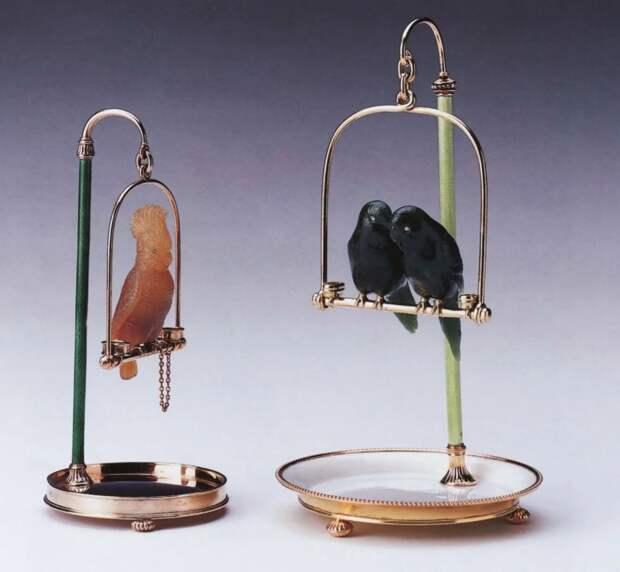 Камнерезные фигурки птиц фирмы Фаберже из королевской коллекции, фото № 6