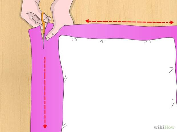 Как сделать наволочку без шитья