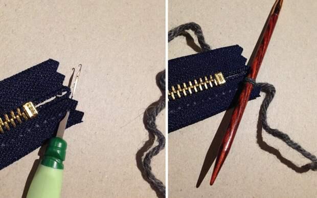 Простой способ аккуратно вшить молнию в вязаную вещь