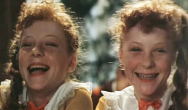 Сестры Кутеповы в фильме «Рыжий, честный, влюбленный», 1984 год