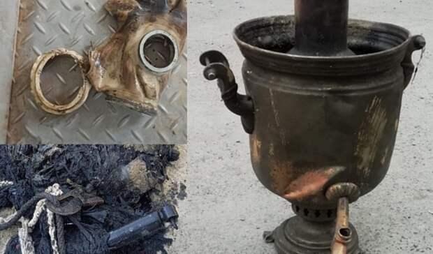 Втюменской канализации нашли самовар 1970 года выпуска