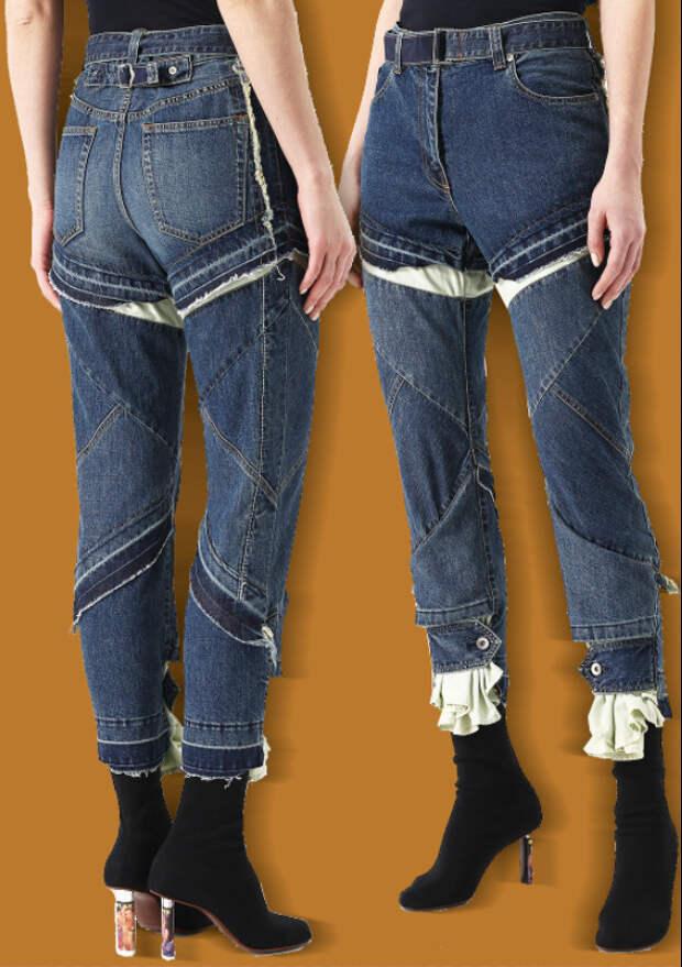 Шорты из джинсов и обратное превращение - джинсы из шортов )))
