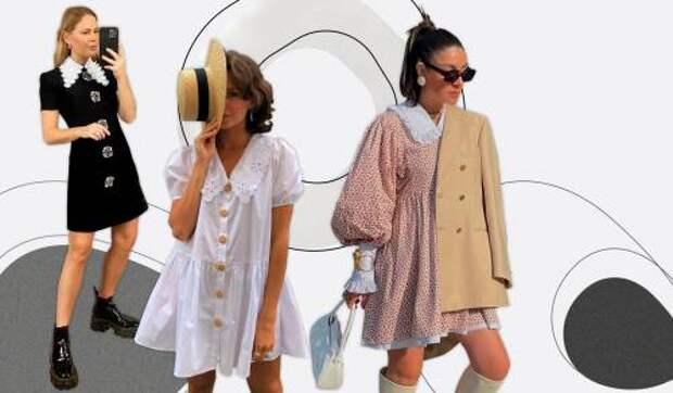 Возвращение из 1960-х: платья с отложными воротничками – тренд этого лета