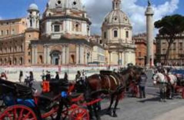В Риме ограничили движение конных экипажей