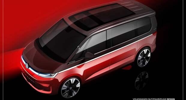 Новый тизер Volkswagen T7 Multivan подтверждает переход на платформу MQB