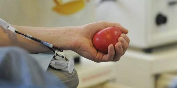 Собянин отметил вклад доноров крови в сохранение здоровья москвичей. Фото: mos.ru