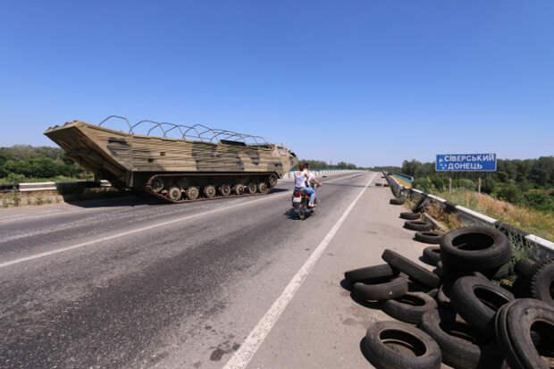 Ополченцам удалось уничтожить целую колонну техники киевских карателей