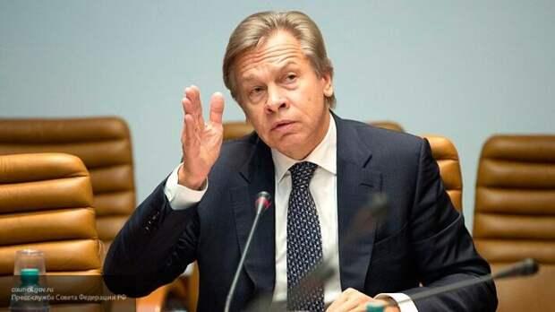 """Пушков """"указал на место"""" президента Зеленского и Украины в мире"""