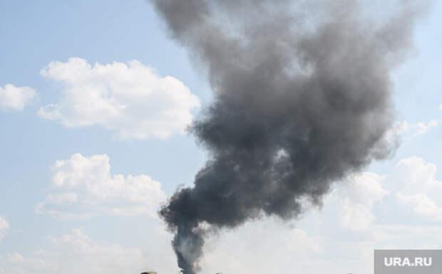 ВМиассе начался пожар. Фото, видео