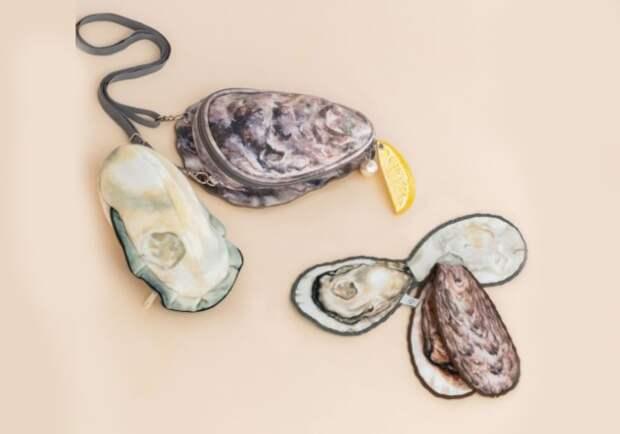 Деликатес наплече: японская фирма создала сумочку ввиде устрицы