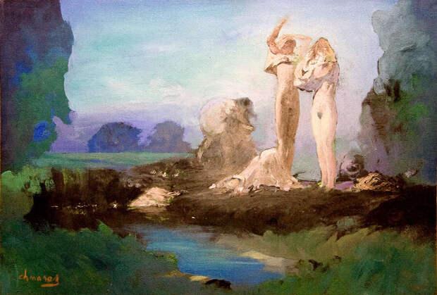 Обнаженная натура в изобразительном искусстве разных стран. Часть 176