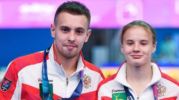Беляева и Минибаев завоевали бронзу ЧЕ в синхронных прыжках с вышки, золото взяли украинцы