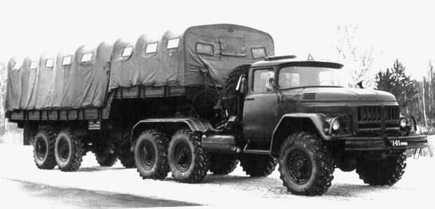 Прототип активного автопоезда ЗИЛ-137 с гидростатическим приводом (из архива СКБ ЗИЛ) авто, автопоезд
