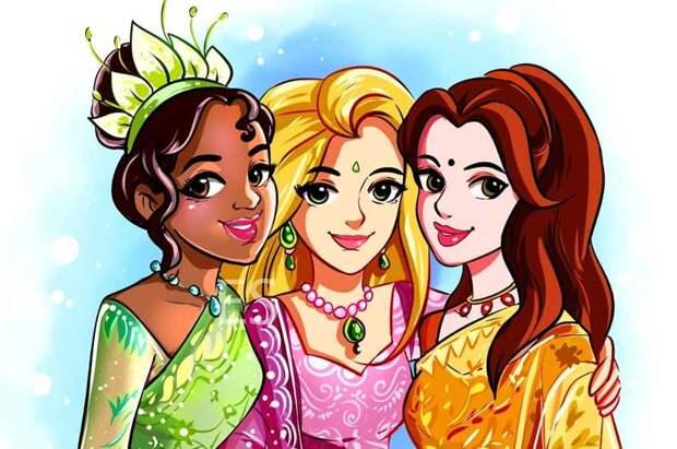 Питомцев принцесс Disney нарядили в их платья