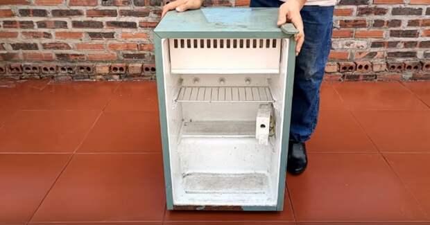 Гениальная идея из старого нерабочего холодильника. Удобно и многофункционально