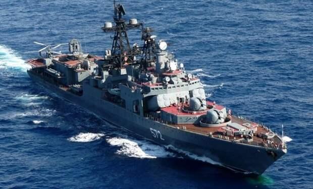 Российское судно едва не столкнулось с крейсером ВМС США в Восточно-Китайском море